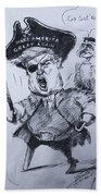 Trump, Short Fingers Pirate With Ryan, The Bird  Beach Towel