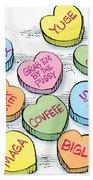 Trump Valentines Candy Uncensored Beach Towel