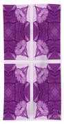 Trumpet Flowers In Abstract Beach Towel