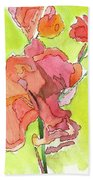 Trumpet Vine Blossom Beach Sheet