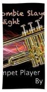Trumpet Zombie Slayer 002 Beach Towel