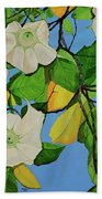 Trumpets In Paradise Beach Towel