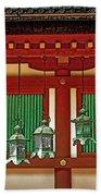 Tsuri-do-ro Or Hanging Lantern #0807-1 Beach Towel