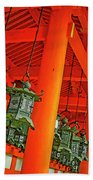 Tsuri-do-ro Or Hanging Lantern #0807-5 Beach Towel