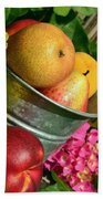 Tub Of Apples Beach Sheet