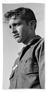 Tucson Arizona Army Reservist Taking Part In Summer Camp Exercise Death Valley  Ca 1968 Beach Towel