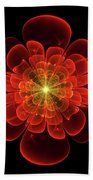 Tudor Rose - Abstract Beach Towel