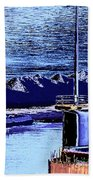 Tug Reflections Beach Towel