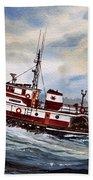 Tugboat Earnest Beach Sheet