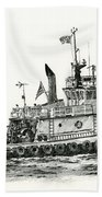 Tugboat Shelley Foss Beach Towel