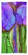 Tulip Bloomies 4 - Purple Beach Towel