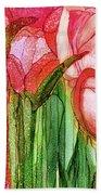 Tulip Bloomies 4 - Red Beach Towel