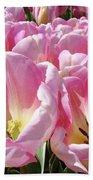 Tulip Flowers Garden Art Pink Tulips Baslee Troutman Beach Towel