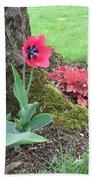 Tulip Poppie Beach Towel