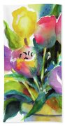 Tulip Pot Beach Towel