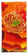 Tulip Prickly Pear Beach Towel