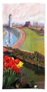 Tulip Town 21 Beach Towel