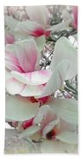 Tulip Tree Blossoms - Magnolia Liliiflora Beach Towel