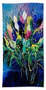 Tulips 45 Beach Towel
