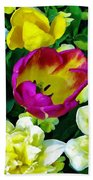 Tulips And Flowers  Beach Towel