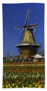 Tulips At The Windmill Beach Towel