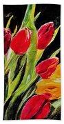 Tulips Colors Beach Towel