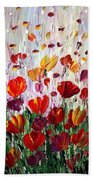 Tulips Flowers Garden Seria Beach Towel