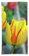 Tulips Garden Art Prints Yellow Red Tulip Flowers Baslee Troutman Beach Towel
