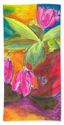 Tulips In Can Beach Towel