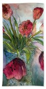 Tulips In Rosie's Vase Beach Towel