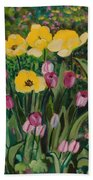 Tulips In The Capitol 2 Beach Towel