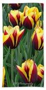 Tulips In The Garden Beach Towel