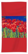Tulips Tulip Flowers Fine Art Print Giclee High Quality Exceptional Color Garden Nature Botanical Beach Towel
