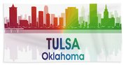 Tulsa Ok 1 Squared Beach Towel