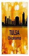 Tulsa Ok 3 Vertical Beach Towel