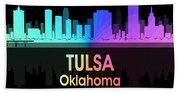 Tulsa Ok 5 Squared Beach Towel
