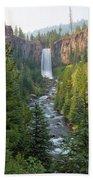 Tumalo Falls In Bend Oregon Beach Towel