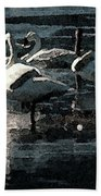 Tundra Swans Beach Towel