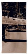Tunnel Log - Sequoia National Park Beach Towel