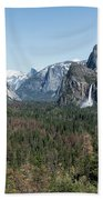 Tunnel View Of Yosemite During Spring Beach Towel