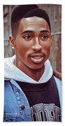 Tupac Shakur Drawing Beach Towel