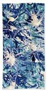 Turbo Turquoise  Beach Towel