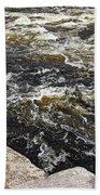 Turbulent Dalles Rapids Beach Towel