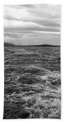 Turbulent Loch Ness In Monochrome Beach Towel