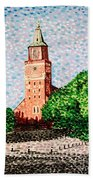 Turku Cathedral  Beach Towel