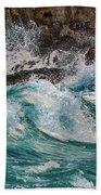 Turmoil In Blue Beach Towel