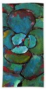 Turquoise Agave Beach Towel