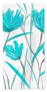 Turquoise Bloom Beach Towel