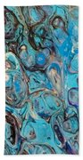 Turquoise Intrigue Beach Towel