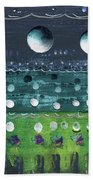 Turquoise Moons Beach Towel